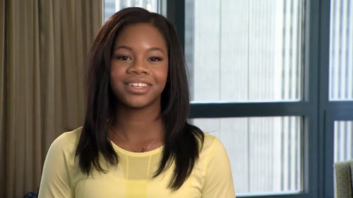 Gabby Douglas promotes McDonald's new Egg White Delight Mc