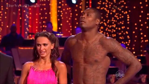 Jacoby Jones and Karina Smirnoff dance the Jive on Dancing With The Stars