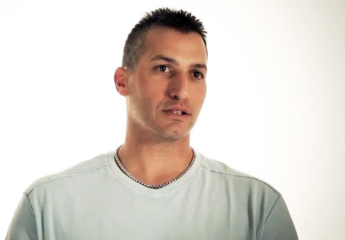 Photo shows Andy Pettitte in an interview discussing his life as a Christian. Pettitte is the featured speaker at Stonecrest Community Church's outdoor event in Warren, N.J. August 31, 2013.