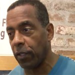 Photo shows Tony Dorsett at the AMI Kids Golf Tournament in Pawleys Island in 2012 speaking to the media about concussions and his quest to get all NFL players lifetime health insurance.