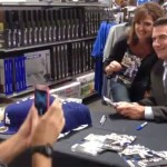Photo shows former Los Angeles Dodgers player, Steve Garvey, signing autographs at Dick's: Sporting Goods in the Westfield shopping mall in Palm Desert on November 10, 2013...