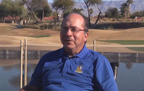 Photo shows former Reds catcher, Johnny Bench, speaking to the iBaseball Channel about his life and career.