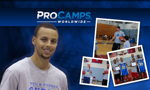 Photo shows Golden State Warriors, Stephen Curry  at 2014 ProCamps