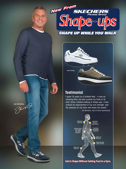 Joe Montana Athlete Endorsement For Skechers